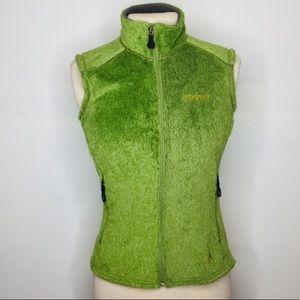 Patagonia green fuzzy vest Sz Small